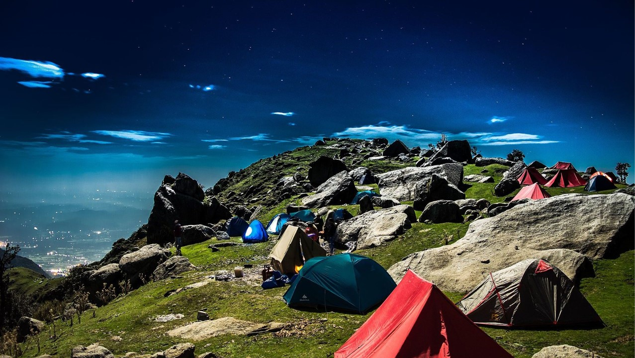 Indrahar pass camping