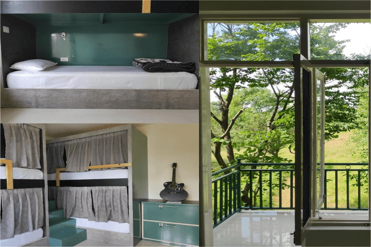 4 Bed Mixed Dorm With Balcony and Bathroom