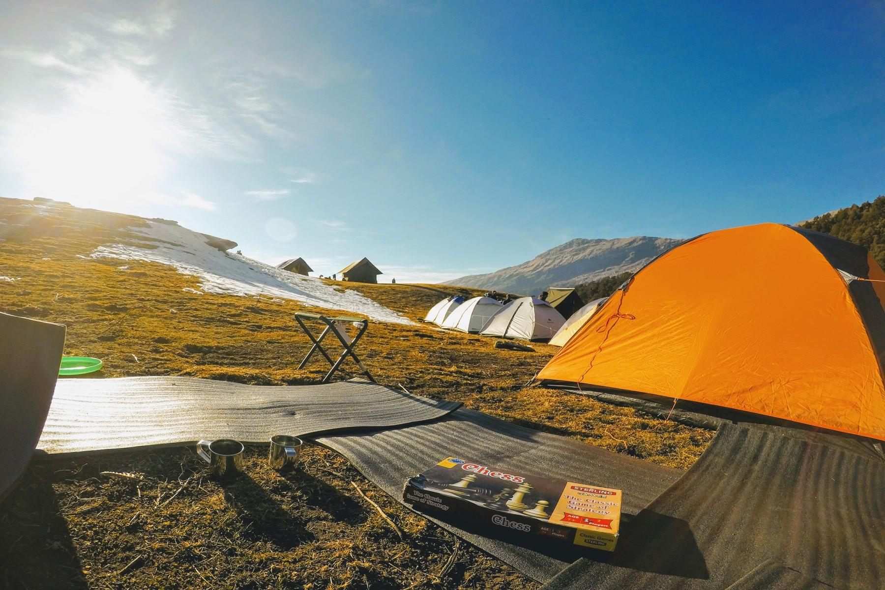 Brahmatal Trek 2021 | Campsite at Jhandi Top