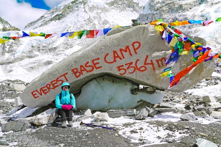 Everest base Camp Height