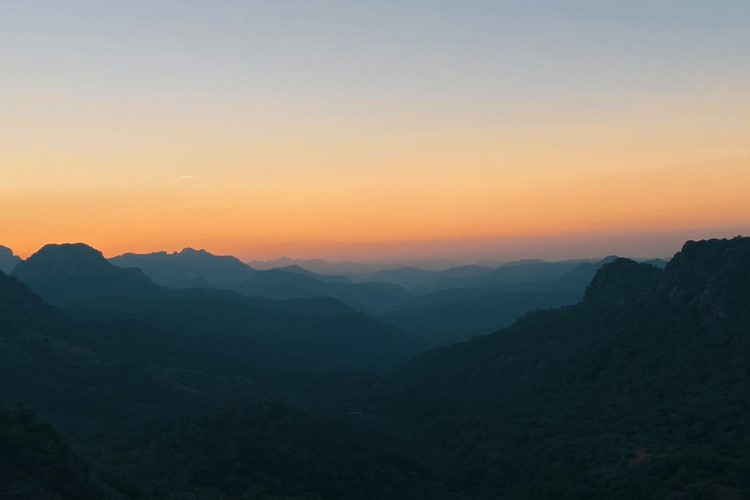 Sunset in Pachmarhi