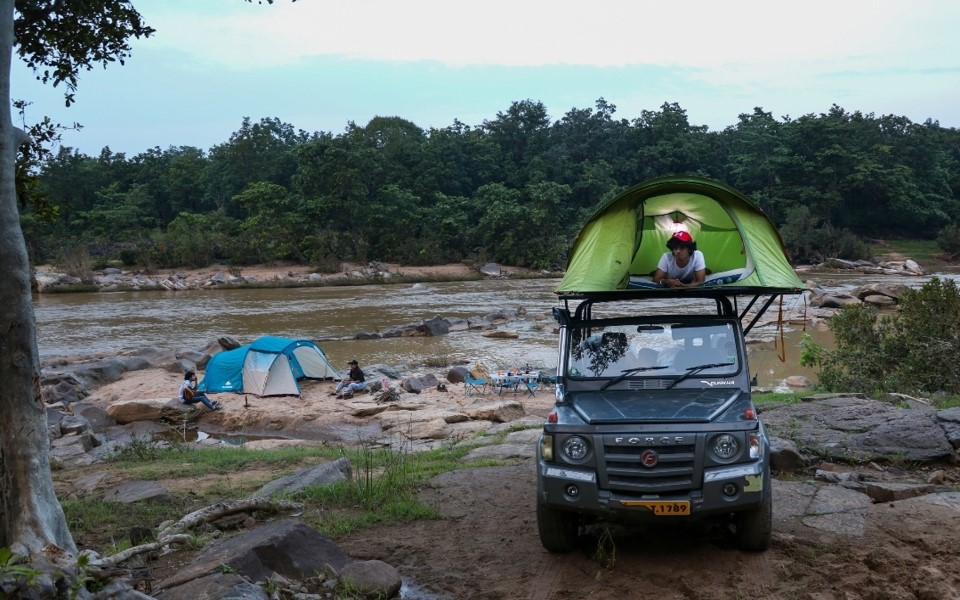 Riverside Camping in Pachmarhi